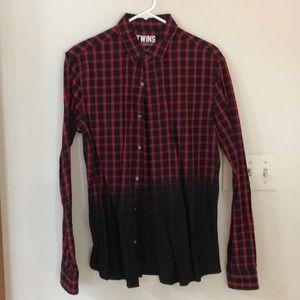 Men's Eleven Paris ombré plaid shirt